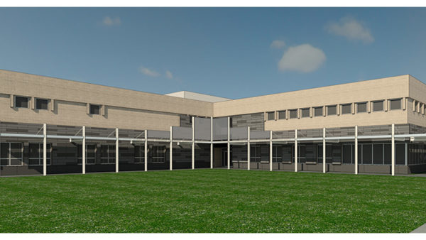 Rendering of the Allie Mae Williams Multi-Service Center, VergesRome Architects, New Orleans